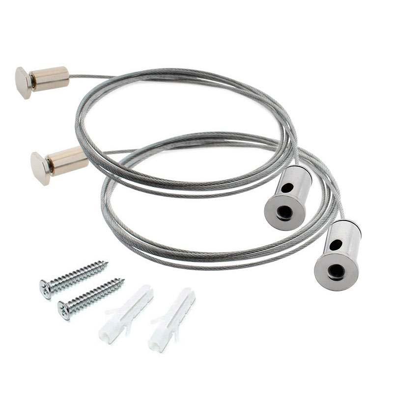 Set de 2 cables de suspensión 1m